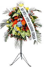 Gorgeous Wrought Iron Stand Legs crafted wrought iron flowers in shades of orange and green on the opening, wedding, wedding in the most beautiful way to represent you in organizations such as the arrangement of high-tall wrought iron.