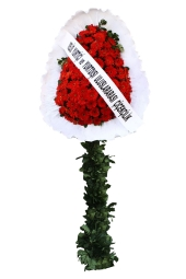 Red Gerbera Daisies Single Leg roundabout Cart Happy days, you feel that you are with them, sharing the joys and new beginnings of red gerberas prepared footed basket to represent you send to your loved ones.
