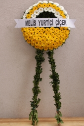 Yellow and White Flowers Wreath