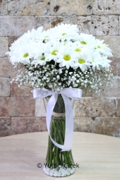 Vase with White Daisies 