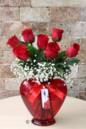 Best Surprise You Can Do you love to tell with 7 Roses in Heart Vase Design Den prepared.