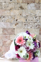 Wildflowers, gerberas and daisies bouquet packaged wonderful time with your loved ones to be happy now!