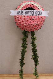 Wreath of Pink and White flowers