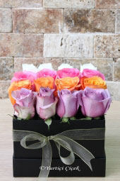 It was better to send a colorful gift to your loved ones than anything else. Now you can make a wonderful surprise with colored roses in the box.