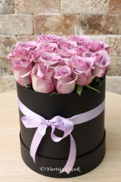 Specially designed box flowers made with 15-20 lilac rose in the round box will be an unforgettable surprise for your favorite.