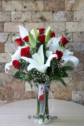 In the most special way to tell your love with roses and lilies send him the greatest gift.