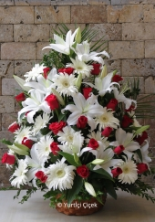 Loved ones to celebrate the special occasion, if you want to share the joys and sorrows vibe white arrangement exactly the product.