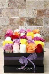Design for your loved ones prepared with colorful roses Black Box will be an unforgettable gift.